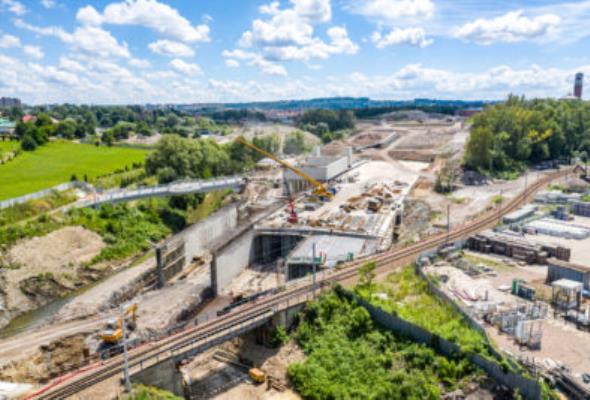 Tak wyglądają postępy na budowie Trasy Łagiewnickiej