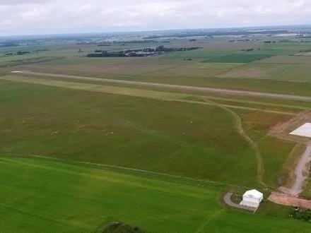 Otwarto nową drogę startową na lotnisku w Suwałkach