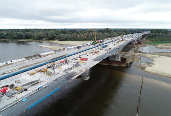 Dwa brzegi Wisły połączone. Most Południowy w Warszawie zabetonowany