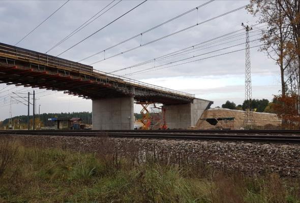 Powstają dwa nowe wiadukty nad Centralną Magistralą Kolejową