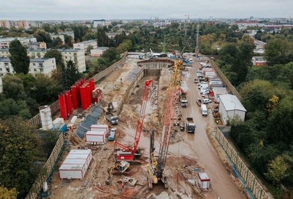 Tunel w Łodzi. Pierwszy szacht komory Odolanowskiej gotowy