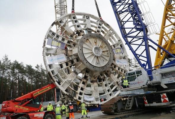 Tunel pod Świną: Tarcza już opuszczona [zdjęcia]