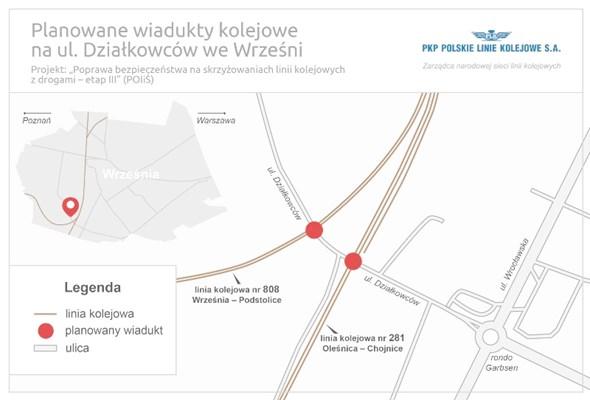 PLK: We Wrześni nowe wiadukty zwiększą bezpieczeństwo i poprawią komunikację