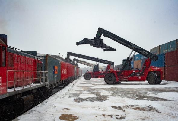 Do Małaszewicz dotarł pociąg z dużym transportem z Chin