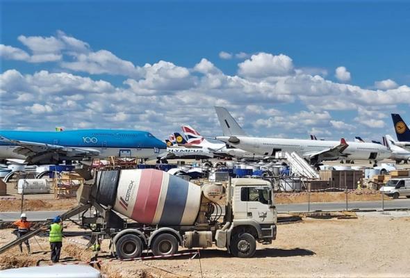 CEMEX dostarcza materiały na największe lotnisko techniczne w Europie