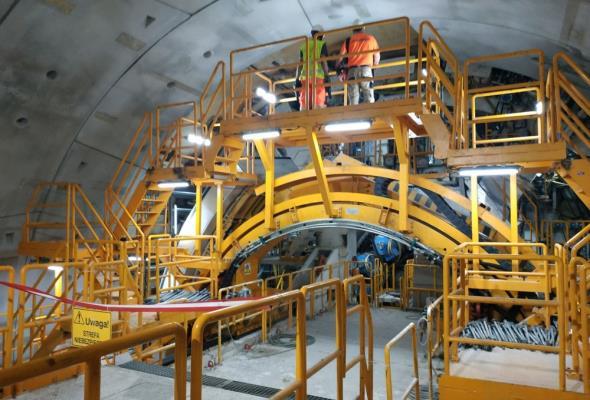 Ponad pół kilometra tunelu w Świnoujściu wydrążone