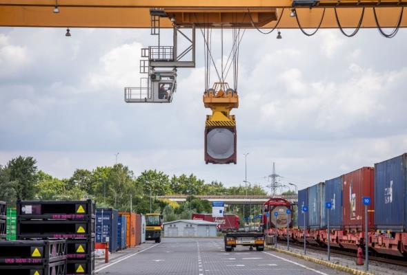 Rail Baltica. Pierwszy pociąg wjechał na terminal w Kownie