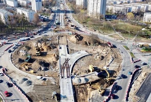 Poznań. Na rondo Rataje wraca ruch tramwajowy