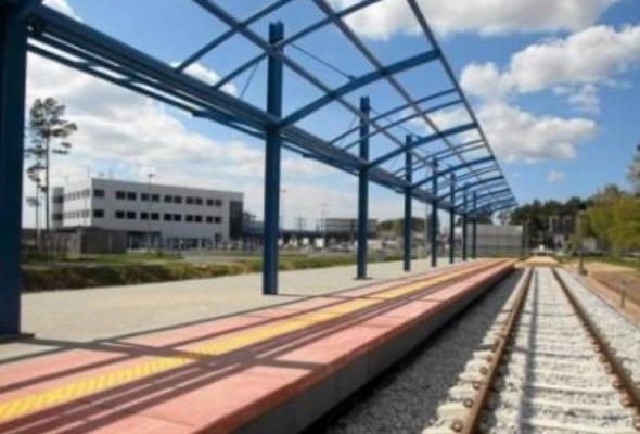 Szczecin-Goleniów: Peron już stoi