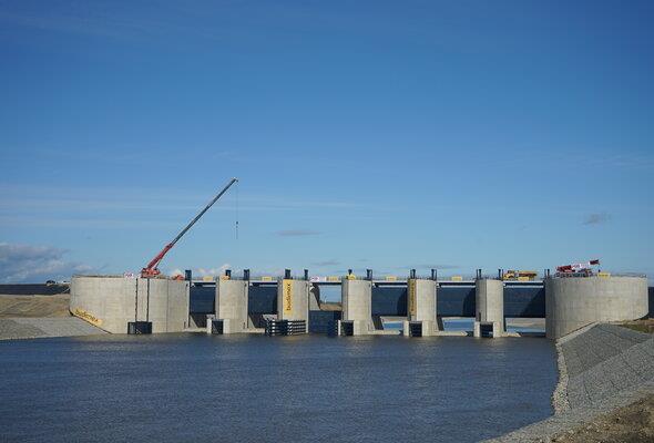 Kolejny etap budowy na budowie zbiornika Racibórz Dolny. Odra zmieniła bieg