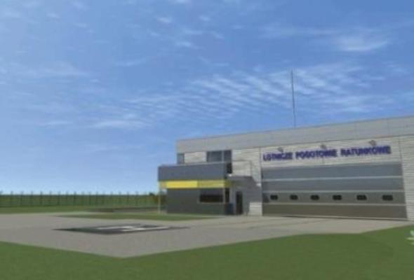 Na wrocławskim lotnisku budują nową bazę śmigłowców pogotowia ratunkowego