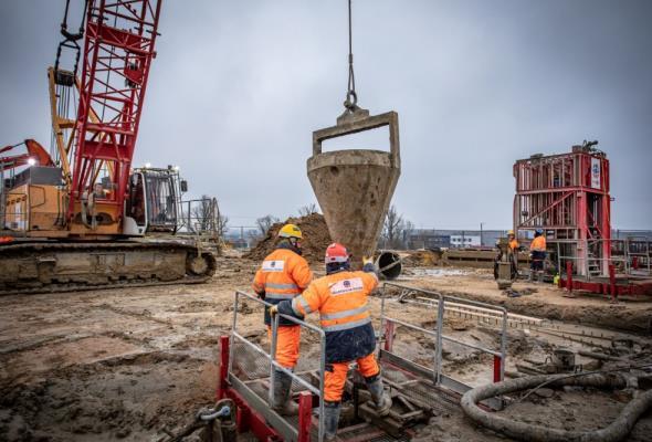 Ściany szczelinowe – technologia wykorzystana  na budowie spalarni w Olsztynie