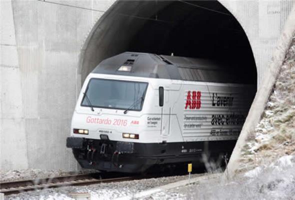 Technologia ABB w tunelu Gotthard-Basistunnel
