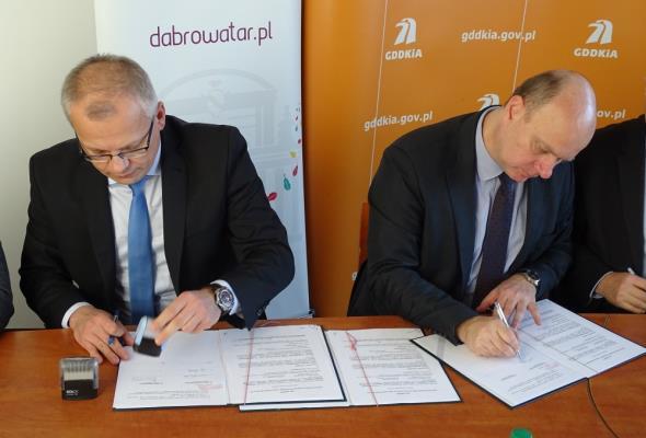 Małopolskie: Podpisano umowę na budowę obwodnicy Dąbrowy Tarnowskiej