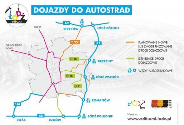 Władze Łodzi: Brak decyzji ministerstwa przeszkadza w budowie dojazdów do A1