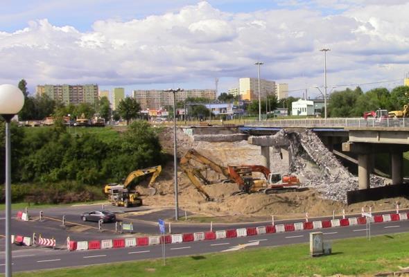 Trwa modernizacja estakady na ul. Wojska Polskiego w Bydgoszczy [ZDJĘCIA]