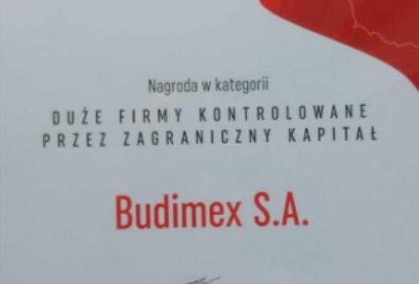 Budimex wyróżniony za patriotyzm w biznesie