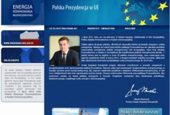 Portal URE poświęcony polskiej prezydencji w UE