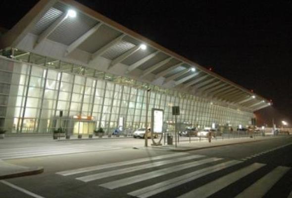 Lotnisko Chopina: Stary terminal w stanie surowym