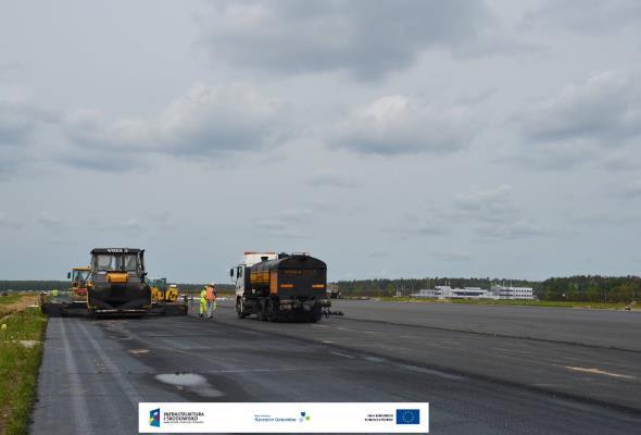 Goleniów: Trwa remont drogi startowej
