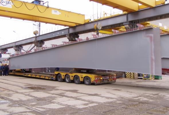 Most Cłowy dopłynął do Szczecina