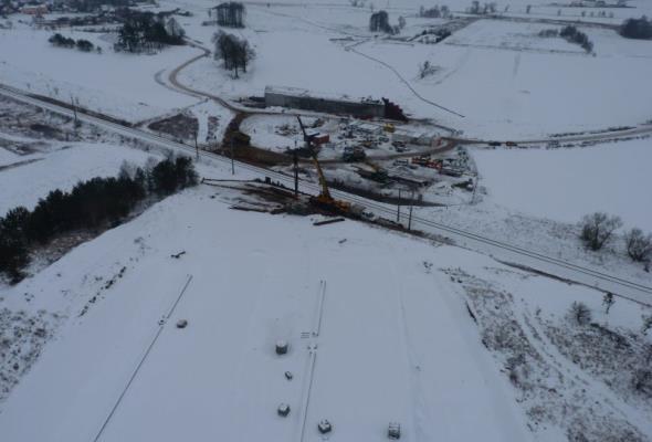 Warmińsko-Mazurskie: S7 w budowie. Trwają prace na wiaduktach