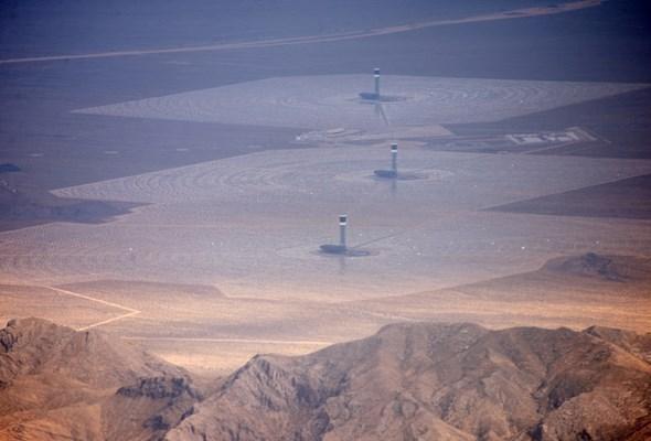 Pożar w największej elektrowni słonecznej na świecie