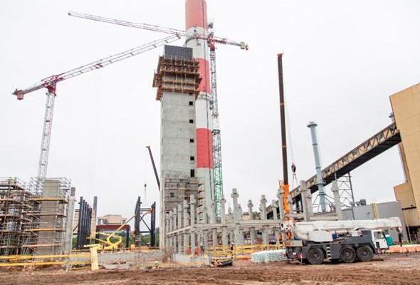 Tradycyjna wiecha na budowie EC Zabrze